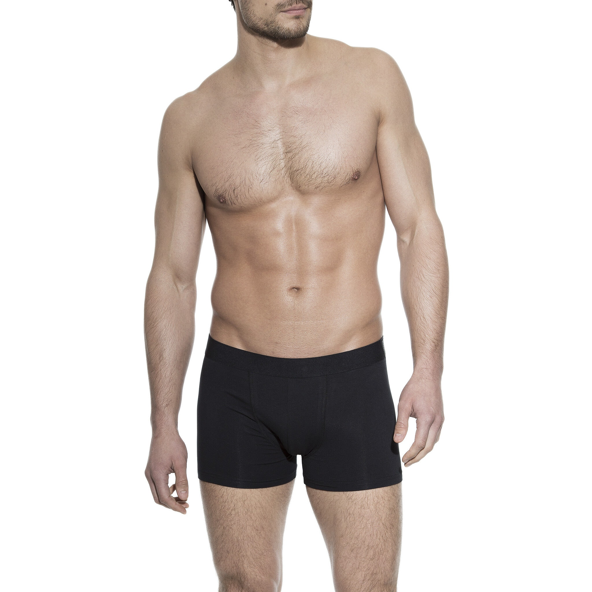 Boxer brief black for men in organic cotton